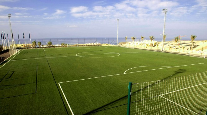 on this picture you see have good view over the lower football pitch and the ocean panorama