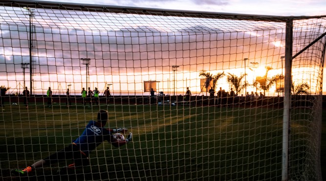 every single day the sunset looks impressive. Don´t you want to have a break of a nice trainingsession with that view?