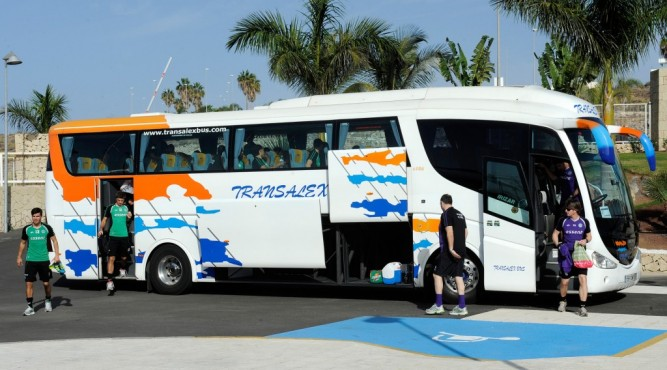 we at Tenerife Top Training offer a service all around your training camp. on the picture you can see a bus that trasfered a team from the airport too the Training facilities.