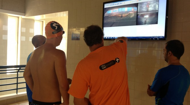 the flume is a great opportunity to analyse your swimming skills. Nick Gillingham shows you how to improve while you check your own video.