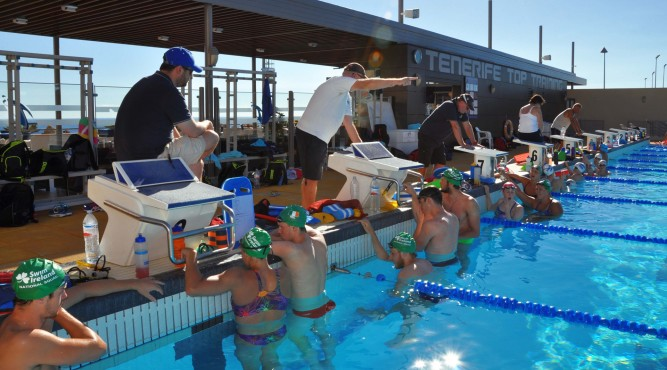 we have FINA proofed jumping boxes and only the best equipment at Tenerife Top Training.