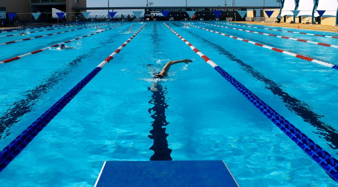 Swimming straight