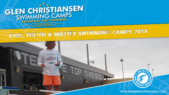 Swimming Camps by Glen Christiansen. You can see Glen Christiansen coaching a camp at the 50 Meter Pool at Tenerife Top Training in Spain. Click here to see more about Glen Christiansens Swimming Camps.