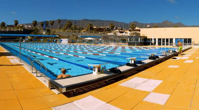 50 meter pool in panorama