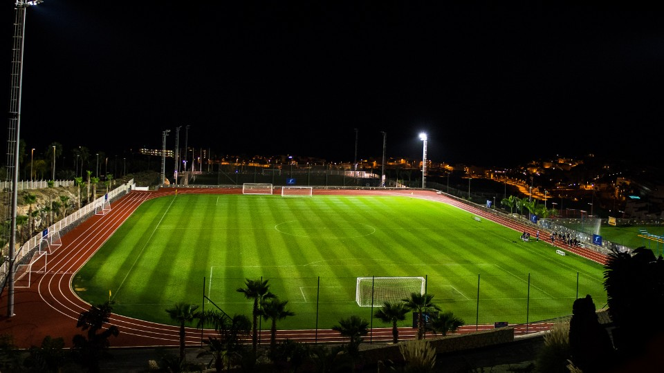 Check out our football and rugby facilities! even at night they are impressive.