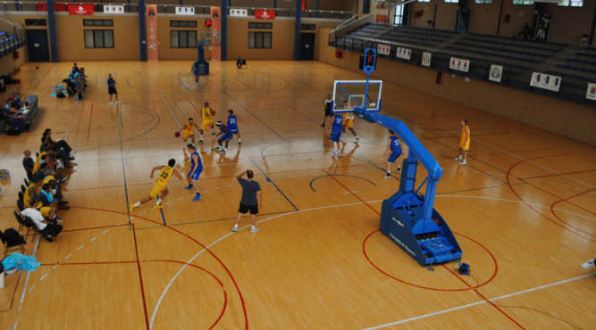 Basketballtraining in Sporthalle