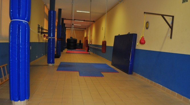 punching ball and workout area