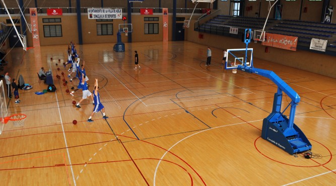 The team of the FRAPORT SKYLINERS trained in the pre-season preparation for the Beko BBL season 2013/14 in the Tenerife Top Training. With the training camp in Tenerife, the next step in the development of the young team should be done. In the multipurpose sports hall, Pabéllon Polideportivo Las Torres offers various training opportunities, here an example for basketball.