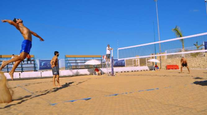 Beachvolleyball Service