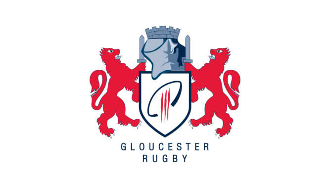 the logo of gloucester rugby, who came to Tenerife Top Training to do a training camp