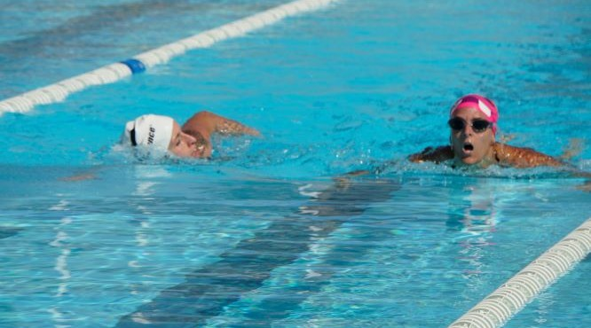 team swimming on second day of Canarias Gone Bad 2018