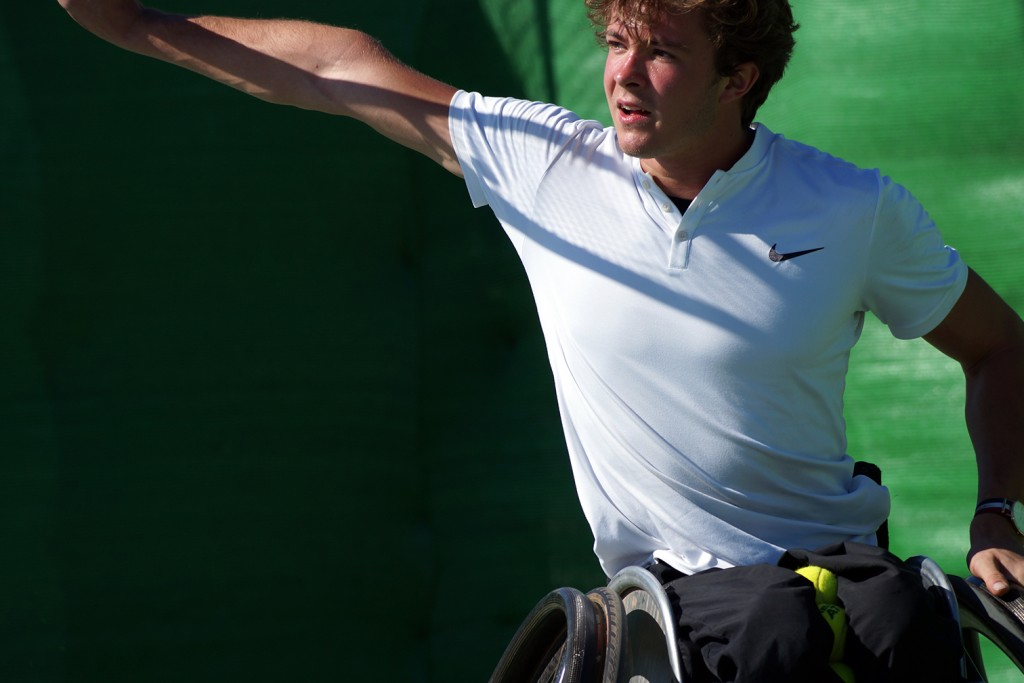 Nico Langmann the best wheelchair tennis player from Austria during his training camp