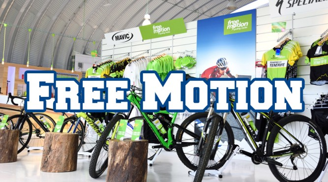 Our Partner Free Motion offers modern bikes and equipment, right next to the Tenerife Top Training facilities