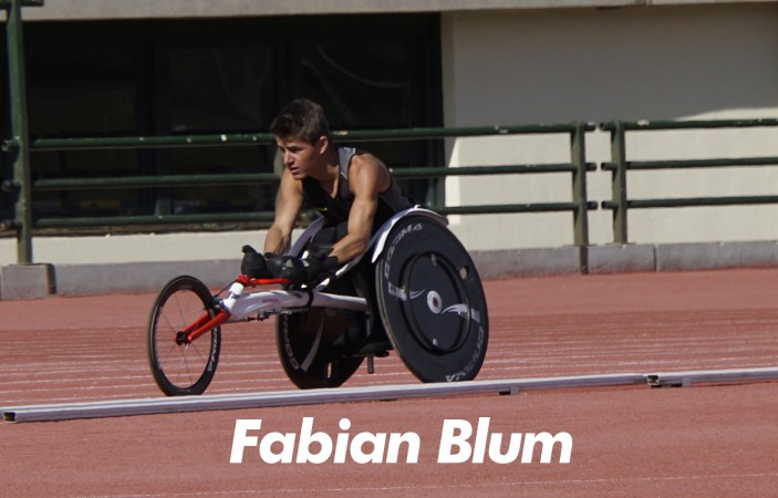 Fabian Blum after a 100 meter sprint