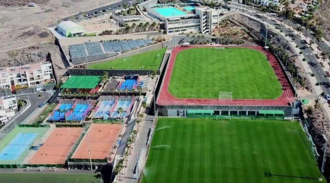 This CrossFit Boot Camp will take place at the best sports resort and retreat in Europe at Tenerife Top Training in Spain. Here you can see the aerial view of this sport resort