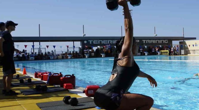 fitness boot camp pool wod tenerife spain europe