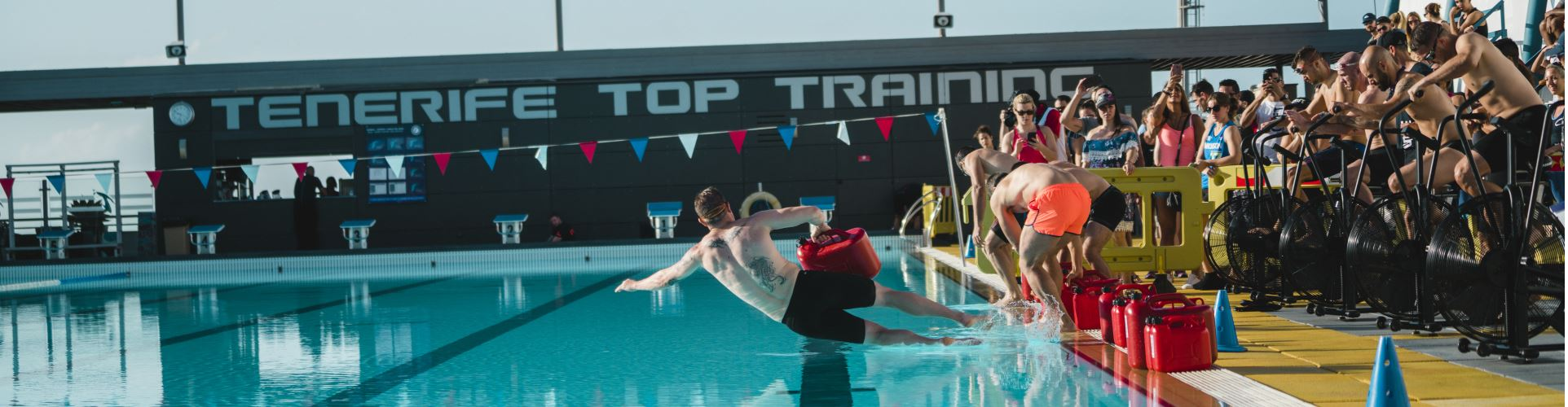 Expect the unexpected! In our CrossFit, Fitness Boot Camps, you will also have workouts at and in our pools!
