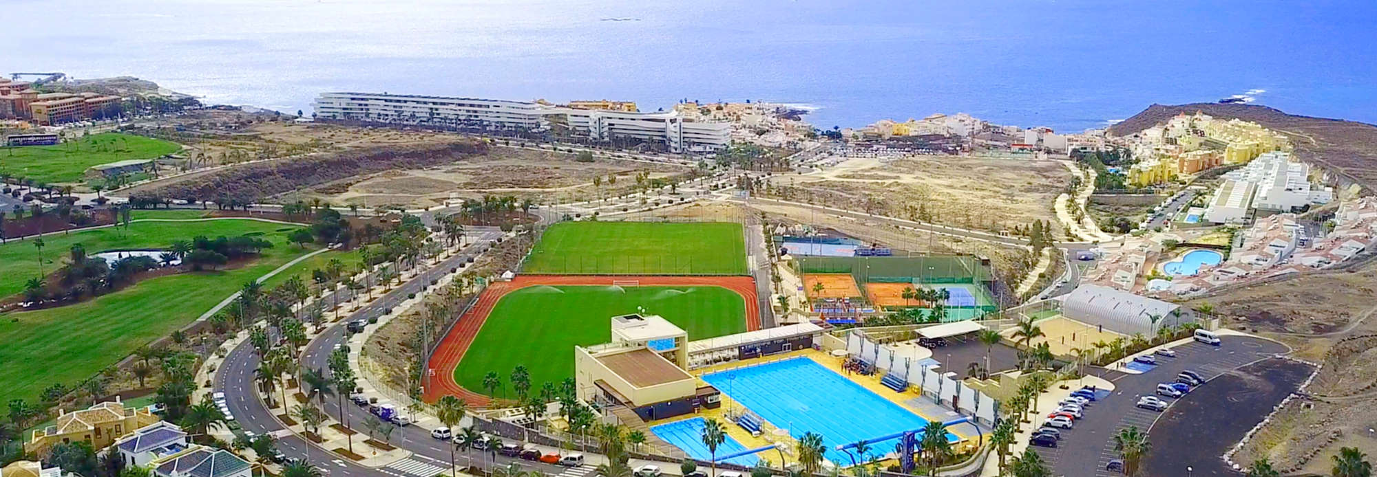 Aerial view of Tenerife Top Training the best sports group retreat for fitness holidays in Europe