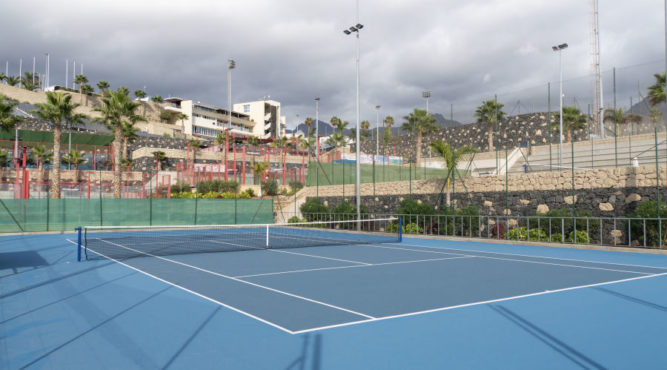 Enjoy your tennis holiday on perfect tennis hard courts GreenSet