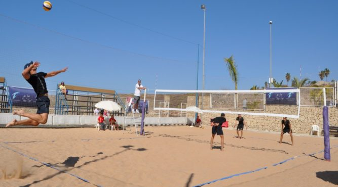 Professional teams train on the T3 beach volleyball courts to get better at volleyball