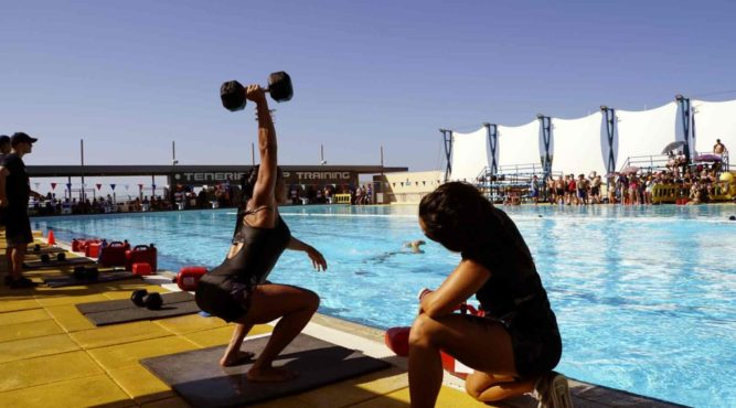 Train anywhere you want at the T3, even do WOD's beside the pool after swimming a few lanes