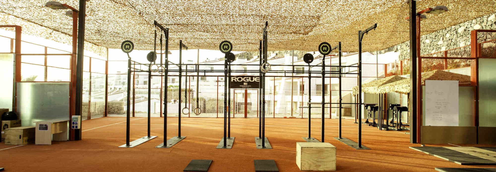 Individual Fitness Camps in our Cross-training Box fully equipped with Rogue Fitness and Eleiko stuff