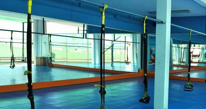 take your fitness training to another level with the TRX equipment in the semi-outdoor gym at the T3