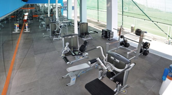 the outdoor gym is perfect for your fitnesstraining during a sports camp at the T3