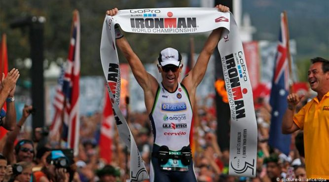 Frederik van Lierde won the Ironman race
