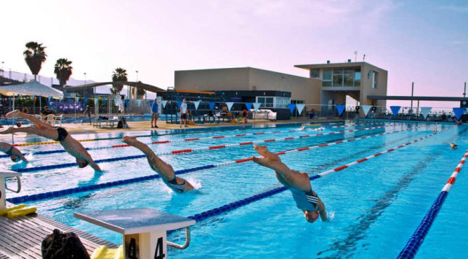 Swimming training camps start jump olympic swimming pool tenerife top training