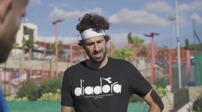 The Dutch professional tennis player Robin Haase was in December in Tenerife Top Training for a training camp.
