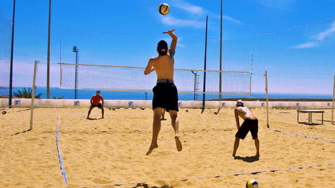 Beach volleyball training camp in the best high-performance sports centre in Europe