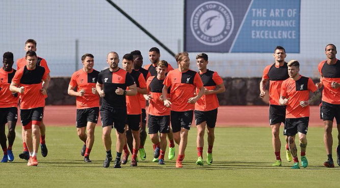 Liverpool FC Warm Weather Training In Tenerife Liverpool during a training session at Tenerife Top Training