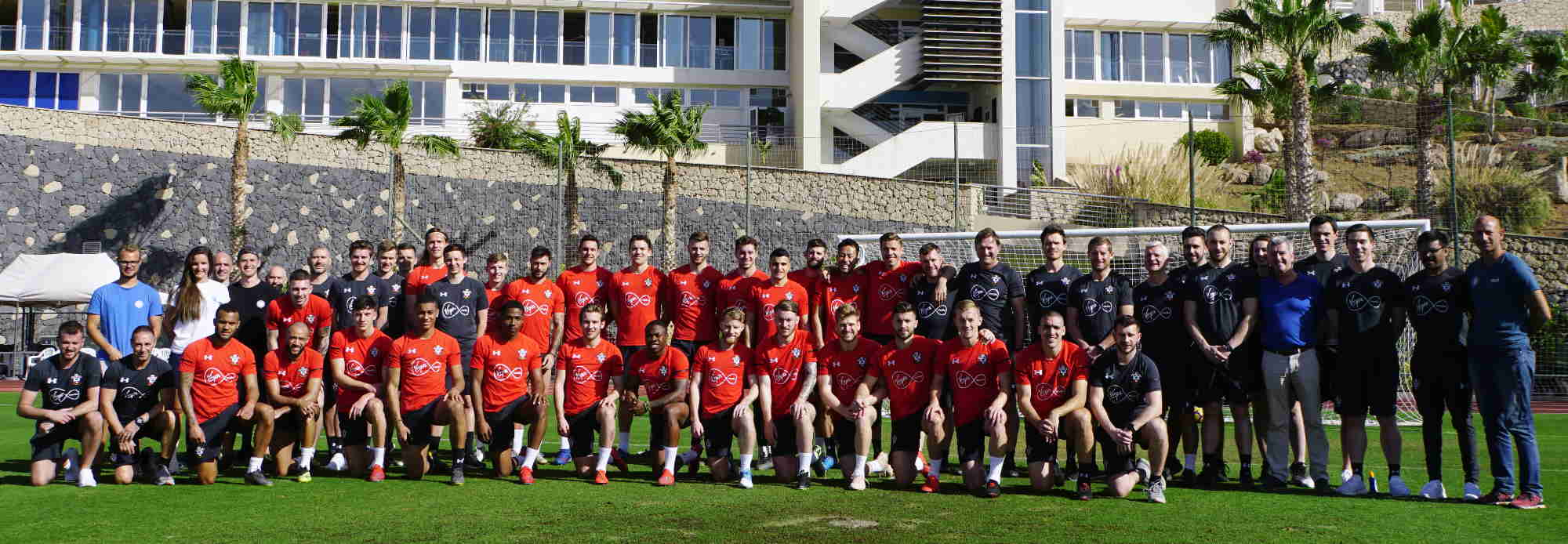 Southampton FC during their football training camp in the best sport resort Tenerife Top Training