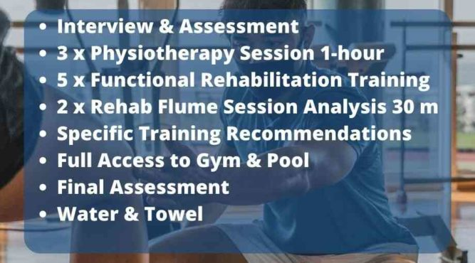 You work with a qualification trainer to find back your health
