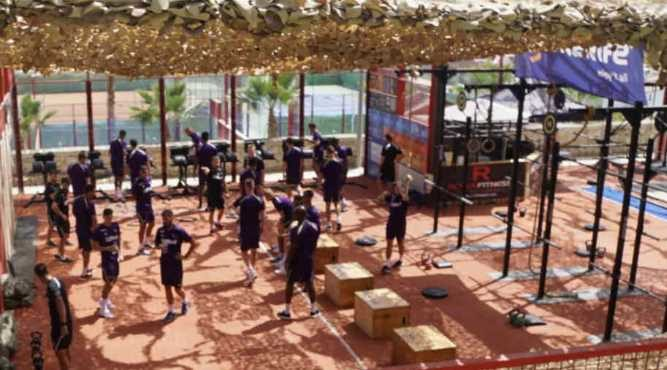football strength conditioning professional outdoor gym